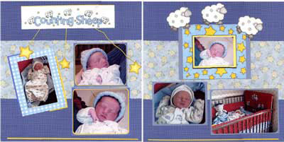 Isabel's Scrapbook Store baby boy layout1