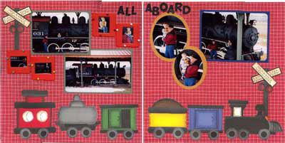 Isabel's Scrapbook Store train station layout