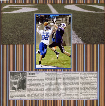 Isabel's scrapbook store sports layout